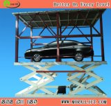 Подъем стоянкы автомобилей автомобиля гаража 2 уровней незримый с крышей