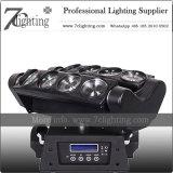 くもDJの照明8PCS 10W LED移動ヘッドビーム照明効果