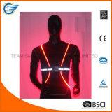 Veste reflexiva do sistema ótico do diodo emissor de luz da veste da noite para funcionar