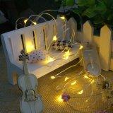 暖かく白い結婚式のクリスマスの夕食は装飾ストリング豆電球Cr2032アマゾン熱い販売法をつける