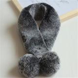 Inverno all'ingrosso che mantiene la sciarpa falsa lunga calda della pelliccia del coniglio per la signora