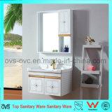 Cabinet de salle de bain à vanité murale / aluminium avec bassin