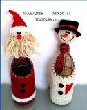 Decoração de Natal - Santa, Boneco de caixa de vinho (MX672, MX567)