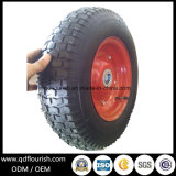 Le rotelle gonfiabili del carrello colpiscono la rotella di gomma pneumatica 500-6