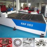 Machine de découpage optique de laser de fibre de tôle pour l'acier inoxydable de carbone