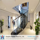 Apagar/folha de vidro temperado para corrimãos da escada com a certificação
