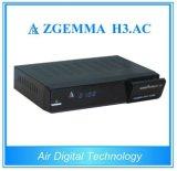 Receptor de satélite e decodificador HD / HD da América / América FTA Zgemma H3. AC DVB-S + ATSC Combo Tuners