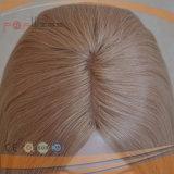 Stuk Van uitstekende kwaliteit van het Toupetje van Topper van het Menselijke Haar van de blonde 22/24# het Lichte Kleur Gemengde