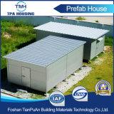 Casa prefabricada de acero tamaño pequeño del panel de emparedado para el almacenaje