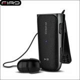 Écouteur stéréo escamotable vibrant de vente chaud d'écouteur de Bluetooth de collier de clip de CSR V4.1