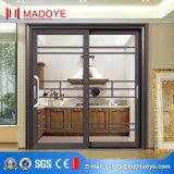 Porte coulissante en verre de bâti en aluminium européen de type