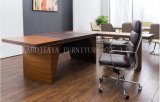 새로운 나무로 되는 가죽 PVC 현대 사무실 책상 (V33)