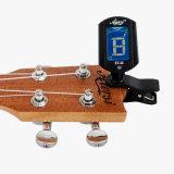 ギターのウクレレのバイオリンの低音のためのデジタルクリップ色彩チューナー