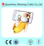 Supporto su ordinazione del telefono della resina con il supporto artificiale di figura della banana della scimmia di figura della frutta