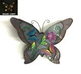 Decorazione illuminata solare della parete della farfalla del metallo antico