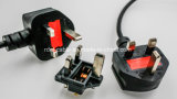Cordon de prolonge BRITANNIQUE pour le cordon BRITANNIQUE d'alimentation AC de prolonge de magnétique de câble d'alimentation du câble 1.8m de chargeur d'Apple