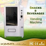 Máquina de Vending engarrafada da água e do leite com a tela de toque cheia