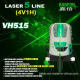 Navulbare Groene Straal Vijf van de Hoge Precisie het Niveau van de Laser van Lijnen