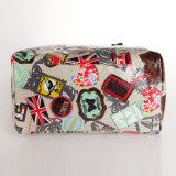 Modelos florales impermeable de PVC lona almohada bolsos de las señoras