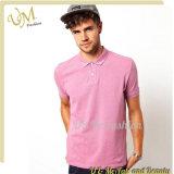 Chemise de polo pure d'hommes de T-shirt de polo de qualité pour l'usine de vêtements
