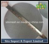Filtro de disco tecido da camada do engranzamento de fio do aço inoxidável único