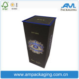 Fabricante modificado para requisitos particulares del rectángulo del vino de la cartulina con el casquillo plástico