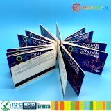 tarjetas de papel plegables RFID de los boletos de 13.56MHz Infineon SLE 66R01L