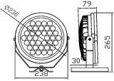 46W impermeabilizan la luz del punto de IP65 LED para al aire libre (SLS-24C)