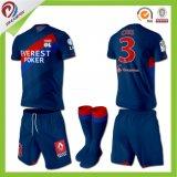 Chemise faite sur commande d'arbitre du football, uniformes sublimés bon marché du football