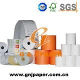 Papier chaud d'atmosphère Rolls de la vente 55GSM pour la réception arrière