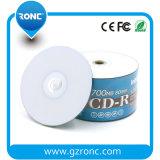 Totalmente em branco para impressão a jato de tinta CD-R 700MB 80min 52X