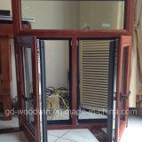 Woodwin Produto principal Janela de madeira de vidro temperado duplo e alumínio