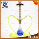 Woyu Wasser-Rohr-Zink-Legierungs-arabische Huka mit bunter Glasflasche