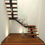 Tipos de madera en forma de U hacia las escaleras de Casa moderna