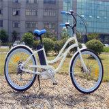 36V 250W batería de litio playa Elecric bicicleta para señora