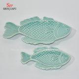 Piatto-Oceano di ceramica Series/B del pranzo degli articoli per la tavola dell'all'aceto del disco dei pesci