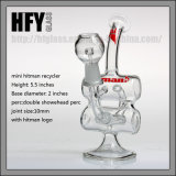 Hfy Glass Hitman Glass - Baby Double Barrel Recycler Smoking Pyrex Water Pipe Vapor Oil Rig