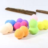 Soplo de polvo cosmético sostenido redondo/soplo sabroso de la esponja del maquillaje/esponja nana
