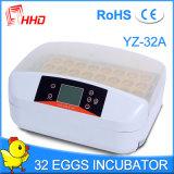 Hhd 자동적인 닭 32 계란 부화기 세륨은 Yz-32A를 통과했다