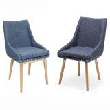 직물 실내 장식품 목제 식사 의자 (W13915-2)