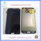 Samsung Note2のノート2 N7105のための携帯電話のタッチ画面LCD