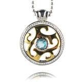 CZ Stone preparan joyas chapado en oro auténtico mayorista de colgante, collar de flores