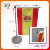 스테인리스 (HYTY-AF019)를 가진 100%년 폴리에스테 테이블 깃발을 인쇄하는 디지털