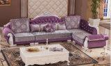 Sofà di legno della casa del tessuto del sofà del salone (HX-SL027)