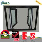 Ventana de plástico / PVC ventanas francesas con pantalla retráctil