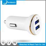 Kundenspezifische weiße bewegliche Doppel-USB-Auto-Mobile-Aufladeeinheit