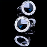 La qualité superbe de VAGULA gifle les boutons de manchette opales 389 de Gemelos de tiges de manchette de diamant
