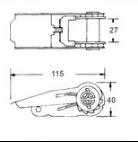 Храповик Tiw вниз гальванизируя 25mm 0.8t