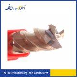 Color de cobre de Joeryfun que cubre el molino de extremo sólido del carburo
