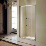 2개의 미닫이 문 (K-813-6)를 가진 알루미늄 프레임 샤워 스크린